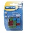 RAPESCO utántöltő kapcsok, Supaclip vegyes színben