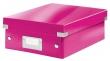 LEITZ tárolódoboz, rendszerező, PP, karton, S méret, Click&Store, rózsaszín