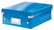 LEITZ tárolódoboz, rendszerező, PP, karton, S méret, Click&Store, kék