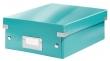 LEITZ tárolódoboz, rendszerező, PP, karton, S méret, Click&Store, jégkék