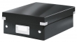 LEITZ tárolódoboz, rendszerező, PP, karton, S méret, Click&Store, fekete
