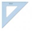 STAEDTLER háromszög vonalzó, műanyag, 45°, 25 cm Mars, átlátszó kék