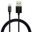 LEITZ USB kábel, iPhone/iPod/iPad készülékhez, 30 cm, lightning, Complete, fekete