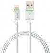 LEITZ USB kábel, iPhone/iPod/iPad készülékhez, 2 m, lightning, Complete, fehér