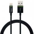 LEITZ USB kábel, iPhone/iPod/iPad készülékhez, 2 m, lightning, Complete, fekete
