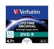 VERBATIM dVD R lemez, archiváló, nyomtatható, M-DISC, 4,7 GB, 4x, normál tok