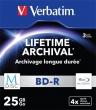 VERBATIM BD-R BluRay lemez, archiváló, M-DISC, 25GB, 4x, vékony tok