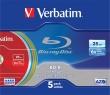 VERBATIM bD-R BluRay lemez, színes felület, LTH, 25GB, 6x, vékony tok