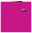 NOBO üzenőtábla, mágneses, írható, rózsaszín, 36x36 cm Quartet,