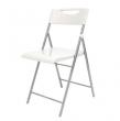 ALBA összecsukható szék, fém és műanyag Smile, fehér