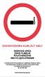 MULTIBRAND információs matrica, 4 nyelven, Dohányzásra kijelölt hely