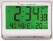 ALBA falióra, rádióvezérlésű, LCD kijelzős, 22x20 cm Horlcdnew, ezüst