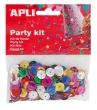 APLI konfetti, metál, 11 mm, lyukasztott kör, vegyes színek