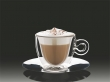 MULTIBRAND cappucinos csésze rozsdamentes aljjal, duplafalú Thermo 16,5 cl