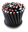 SWAROVSKI ceruzák, 5 db, topáz sárga kristállyal, Crystals fekete,