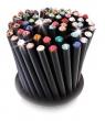 SWAROVSKI ceruzák, 5 db, bíbor lila kristállyal, Crystals fekete,