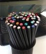 SWAROVSKI ceruzák tartóban, vegyes színű kristállyal, made with Swarovski Elements, 50 db/csomag