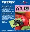 BROTHER BP71G Fotópapír, tintasugaras, A/3, 260 g, fényes, Prémium Plus