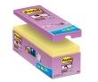 3M POSTIT jegyzettömb, öntapadó, csomag, 127x76 mm, 16x90 lap, Super Sticky, sárga