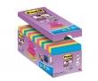 3M POSTIT jegyzettömb, öntapadó, csomag, Z, 76x76 mm, 16x90 lap, Super Sticky, vegyes