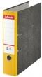 ESSELTE iratrendező, 75 mm, A4, karton, márványos, sárga