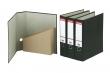 ESSELTE iratrendező és iratpapucs egyben, 75 mm, A4, karton, márványos, fekete