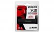 KINGSTON pendrive, 8 GB, USB 3.0, 165/22MB/sec, víz- és ütésálló, adatvédelem,E DT4000G2DM, fekete