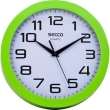 SECCO falióra, 25 cm, zöld keretes, Sweep second