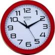 SECCO falióra, 25 cm, piros keretes, Sweep second
