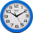SECCO falióra, 25 cm, kék keretes, Sweep second