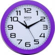 SECCO falióra, 25 cm, lila keretes, Sweep second