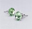 SWAROVSKI fülbevaló, Crystals from 1 kristályos lapos hátuljú, peridot zöld 8mm