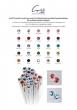 SWAROVSKI fülbevaló, Crystals from 1 kristályos lapos hátuljú, zafírkék, 8mm