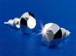 SWAROVSKI fülbevaló, Crystals from ezüst-metál, 8mm